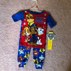 NWT Fitted Paw Patrol Pajama set 2T